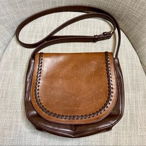 Tignanello vintage leather crossbody saddle bag